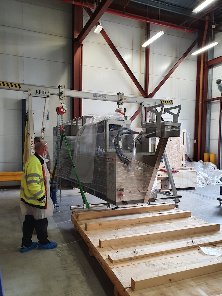 Blister pack machinery move