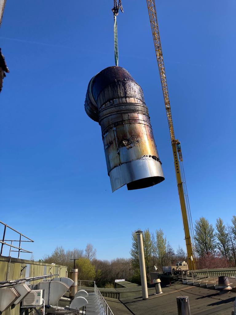 Hoisting Industrial Chimney Stack