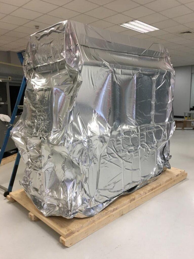 Moisture crating equipment wrap